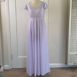 Retro vintage lavender long nightgown
